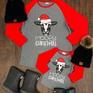 Mooey Christmas Shirt women's Medium